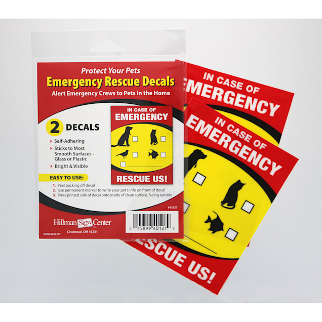 Hillman Emergency Pet Rescue Sign, Pack of 2 - Carousel image #1