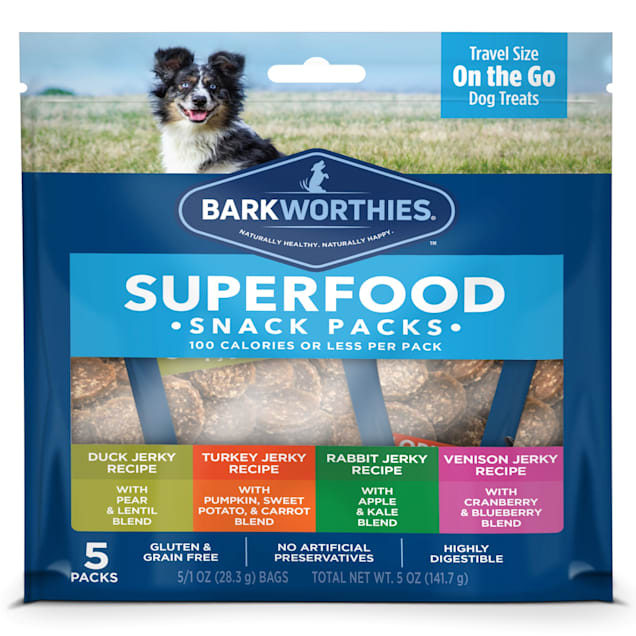 Barkworthies 100calorie Variety Pack Dog Treats, 0.31 lb., Count of 5 - Carousel image #1