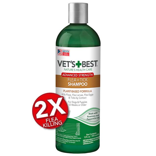 Vet's Best Advanced Strength Flea + Tick Dog Shampoo, 12 fl. oz. - Carousel image #1