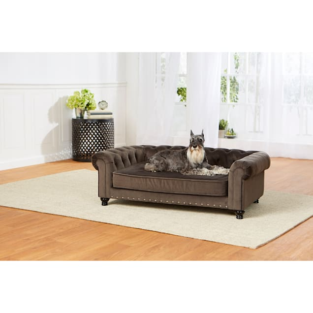 "Enchanted Home Pet Wentworth Gray Sofa, 44.5"" L X 27.5"" W X 14"" H - Carousel image #1"