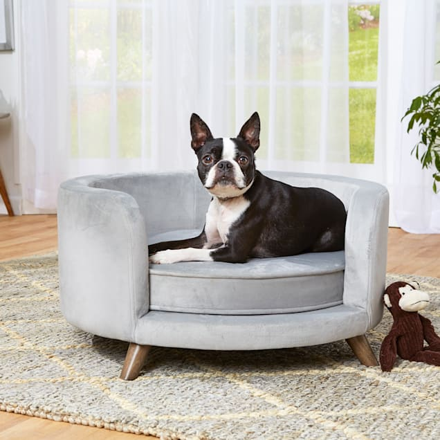 "Enchanted Home Pet Rosie Gray Sofa, 27"" L X 27"" W X 14"" H - Carousel image #1"