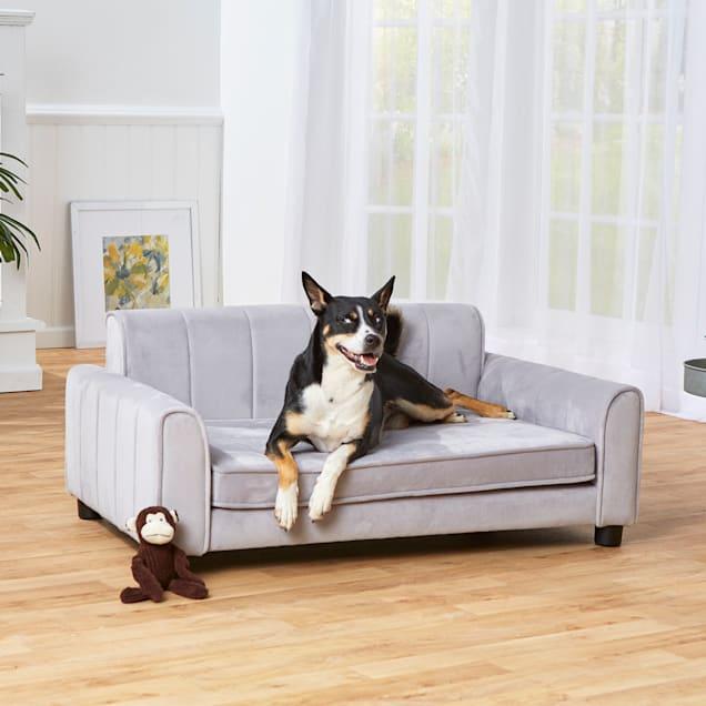 "Enchanted Home Pet Ludlow Gray Sofa, 42"" L X 26.5"" W X 18.38"" H - Carousel image #1"
