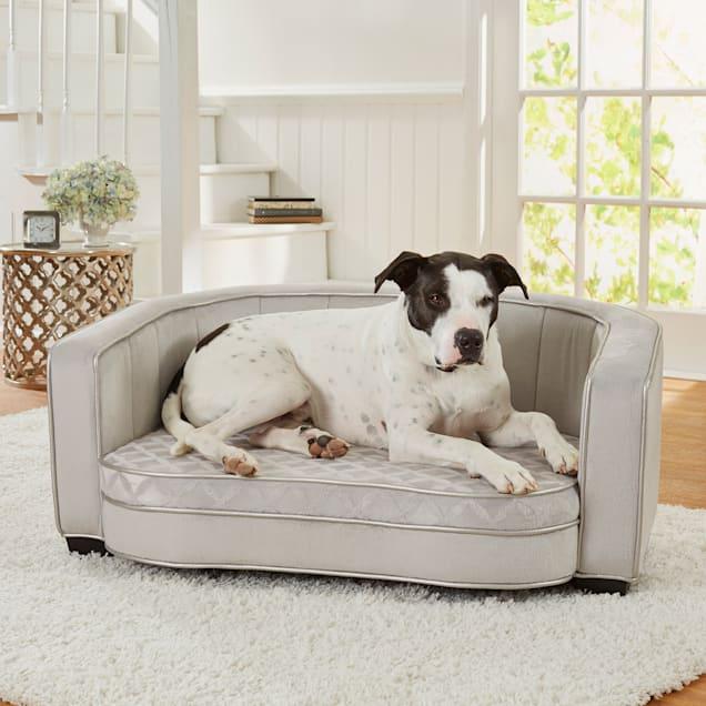 "Enchanted Home Pet Jules Gray Sofa, 40.5"" L X 27"" W X 18"" H - Carousel image #1"