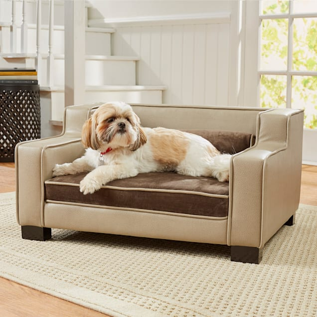 "Enchanted Home Pet Lincoln Brown Sofa, 30.75"" L X 25"" W X 16.13"" H - Carousel image #1"