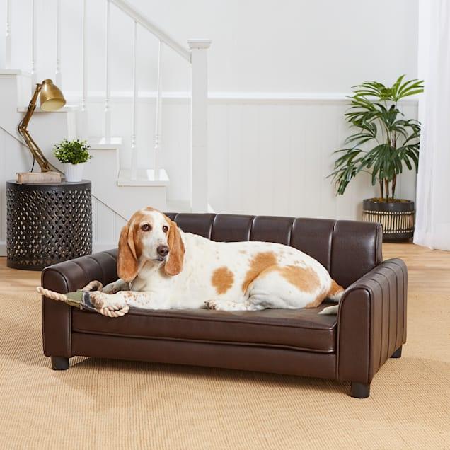 "Enchanted Home Pet Ludlow Brown Sofa, 42"" L X 26.5"" W X 18.38"" H - Carousel image #1"