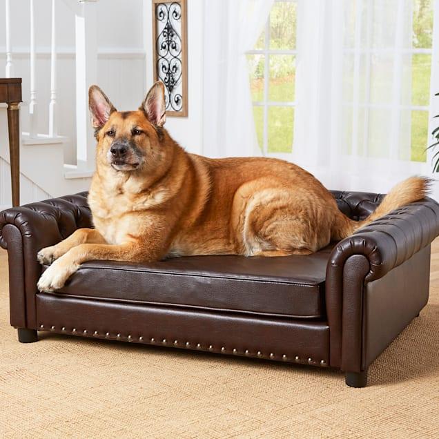 "Enchanted Home Pet Harrison Brown Sofa, 47"" L X 39"" W X 15.5"" H - Carousel image #1"