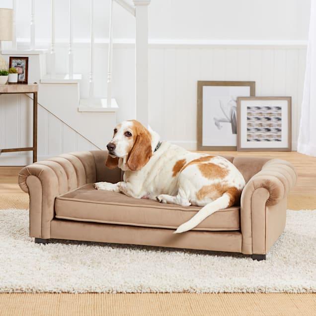 "Enchanted Home Pet Sullivan Brown Sofa, 44.5"" L X 27.5"" W X 14"" H - Carousel image #1"