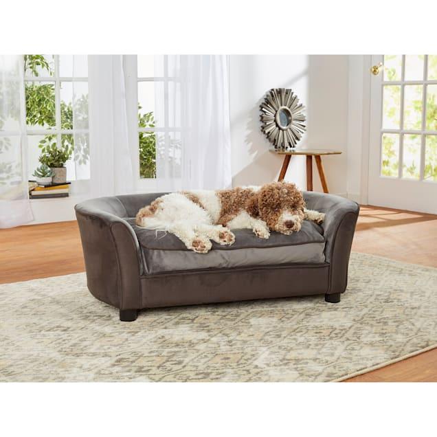 "Enchanted Home Pet Panache Gray Sofa, 42"" L X 23.38"" W X 15"" H - Carousel image #1"