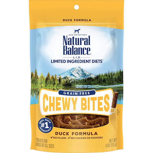 Natural Balance Limited Ingredient Diet Chewy Bites Duck Dog Treat, 4 oz. - Carousel image #1