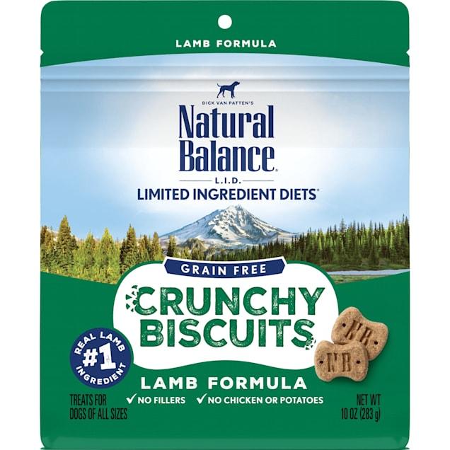 Natural Balance Limited Ingredient Diet Crunchy Biscuits Lamb Dog Treat, 10 oz. - Carousel image #1