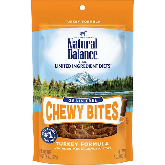 Natural Balance Limited Ingredient Diet Chewy Bites Turkey Dog Treat, 4 oz. - Carousel image #1