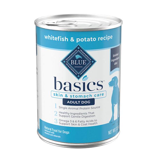 Blue Buffalo Blue Basics Grain-Free Whitefish & Potato Recipe Adult Wet Dog Food, 12.5 oz., Case of 12 - Carousel image #1