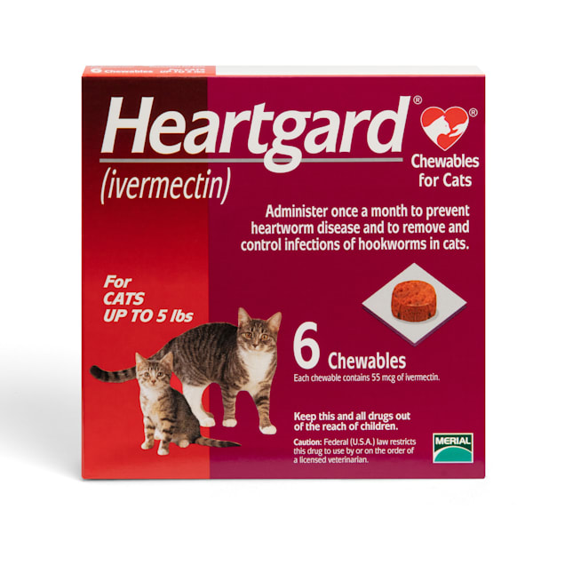Heartgard Chewables for Cats Up to 5 lbs, 6 Month Supply - Carousel image #1
