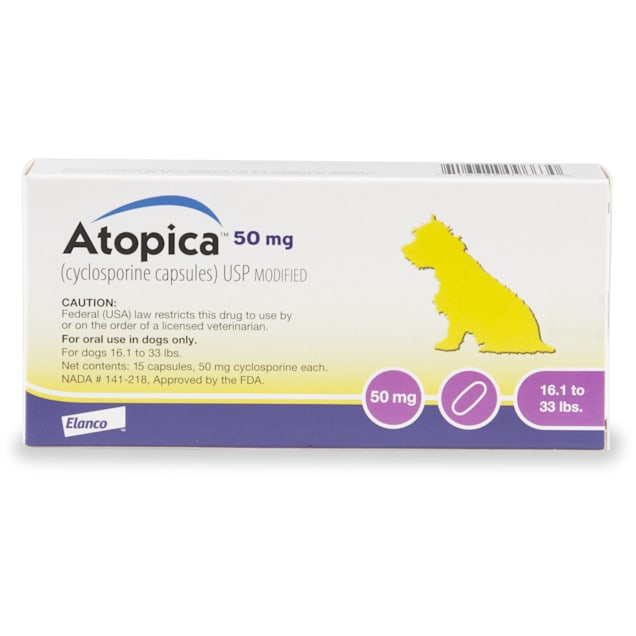 Atopica 50 mg for Dogs, 15 Capsules - Carousel image #1