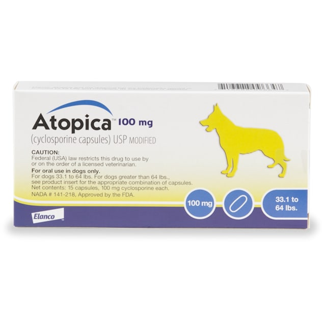 Atopica 100 mg for Dogs, 15 Capsules - Carousel image #1