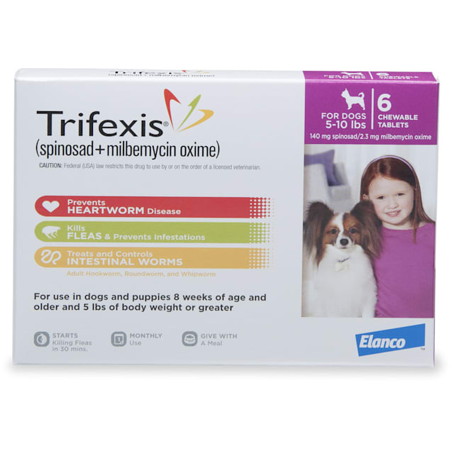Trifexis Chewable Tablets for Dogs 5 to 10 lbs, 6 Month Supply - Carousel image #1