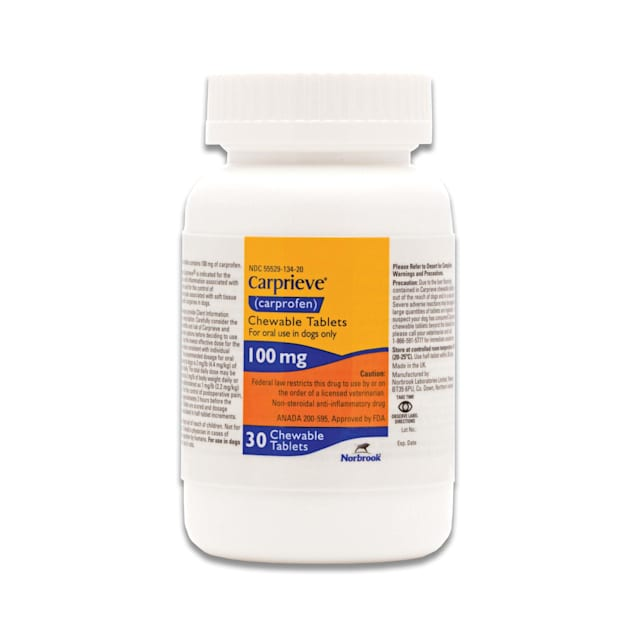 Carprofen 100 mg for Dogs, 30 Chewable Tablets - Carousel image #1