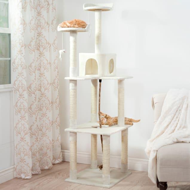 "PETMAKER Sleep and Play Cat Tree, 19.25"" L X 23.5"" W X 71.5"" H - Carousel image #1"