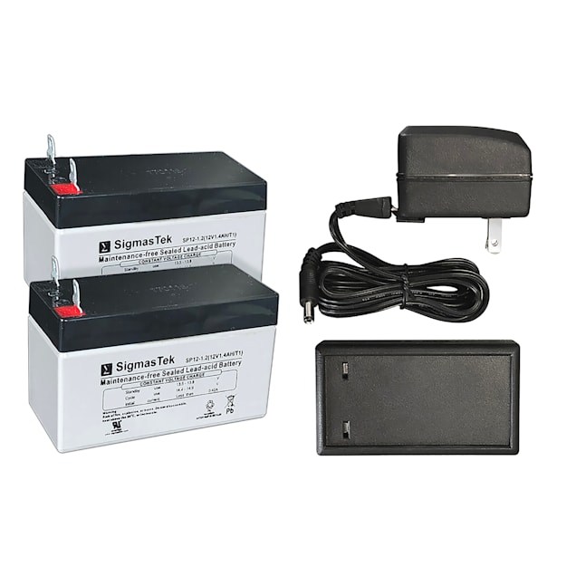 High Tech Pet 2 Battery Kit with Charger for Power Pet Door Operation - Carousel image #1