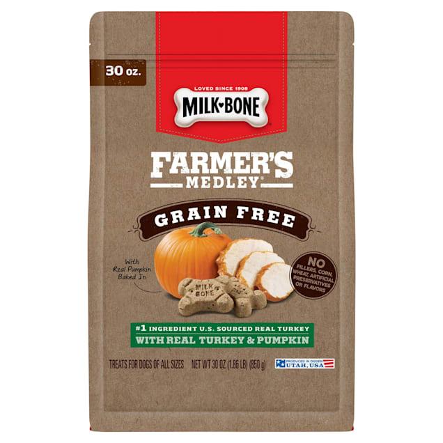 Milk-Bone Farmer's Medley Grain Free Turkey and Pumpkin Biscuit for Dogs, 30 oz. - Carousel image #1