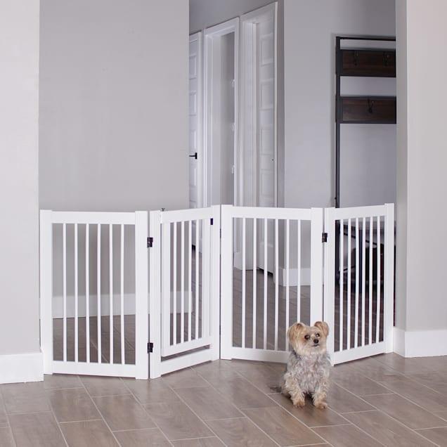 "Primetime Petz 360 White Configurable Pet Gate with Door, 30"" H - Carousel image #1"