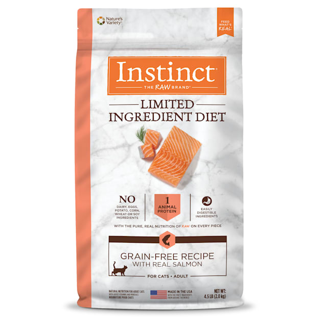 Instinct Limited Ingredient Diet Grain-Free Recipe with Real Salmon Freeze-Dried Raw Coated Dry Cat Food, 4.5 lbs. - Carousel image #1