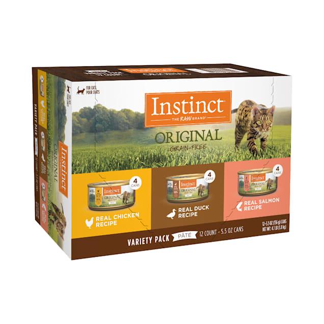 Instinct Original Grain-Free Pate Recipe Variety Pack Wet Cat Food, 5.5 oz., Count of 12 - Carousel image #1