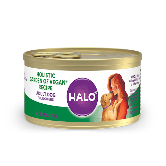 Halo Holistic Garden of Vegan Recipe Adult Wet Dog Food, 5.5 oz., Case of 12 - Carousel image #1