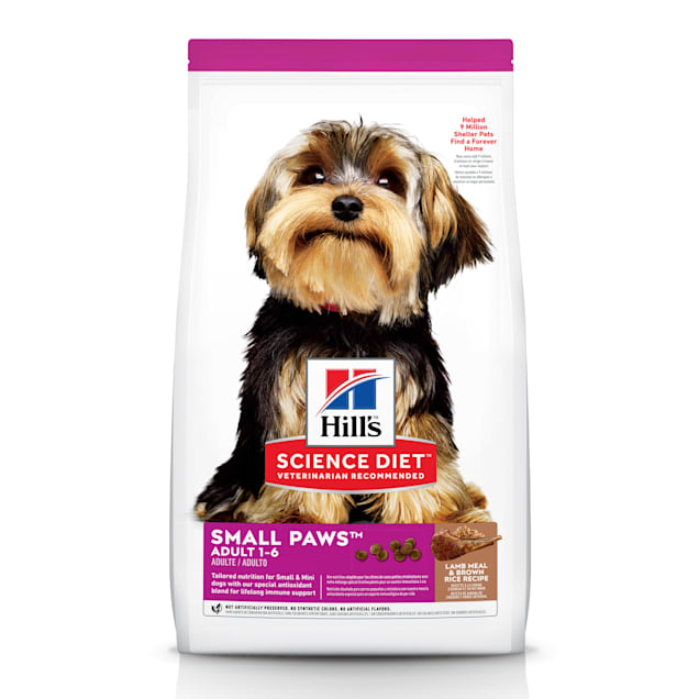Hill's Science Diet Adult Small Paws Lamb Meal & Brown Rice Recipe Dry Dog Food, 15.5 lbs., Bag - Carousel image #1