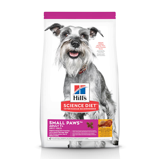 Hill's Science Diet Adult 7+ Small Paws Chicken Meal, Barley & Brown Rice Recipe Dry Dog Food, 15.5 lbs. - Carousel image #1