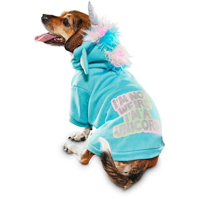 Bootique Unicorn Light-Up Dog Hoodie, X-Small - Carousel image #1