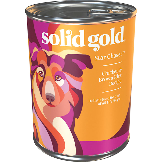 Solid Gold Star Chaser Chicken & Brown Rice Holistic Potato Free Wet Dog Food With Superfoods, 13.2 oz., Case of 6 - Carousel image #1