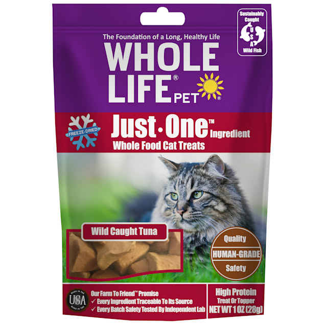 Whole Life Pet Just One Ingredient Pure Tuna Fillet Cat Treats, 1 oz. - Carousel image #1