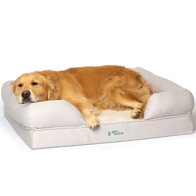 "PetFusion Ultimate Sandstone Orthopedic Memory Foam Dog Bed & Lounge, 36"" L X 28"" W - Carousel image #1"