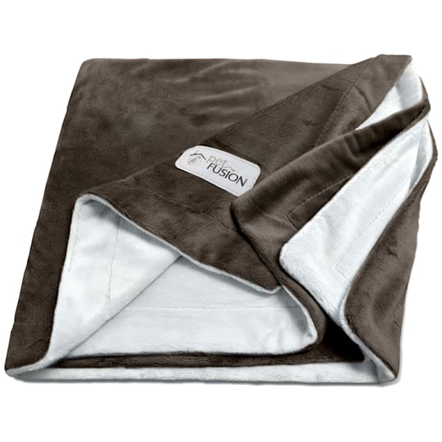 PetFusion Microplush Brown Pet Blanket, Small - Carousel image #1