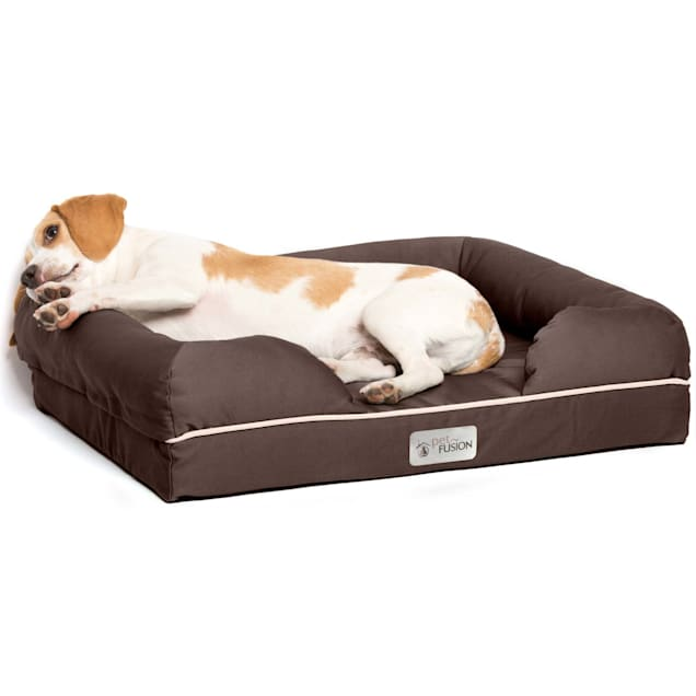 "PetFusion Ultimate Orthopedic Memory Foam Brown Dog Bed & Lounge, 25"" L X 20"" W - Carousel image #1"