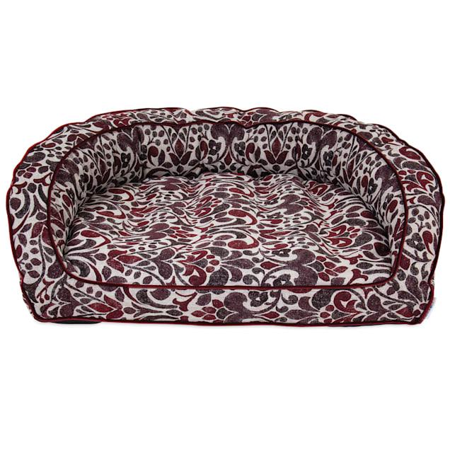 "La-Z-Boy Harper Merlot Sofa Dog Bed, 43"" L X 35"" W - Carousel image #1"