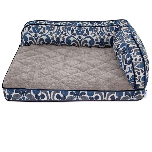 """La-Z-Boy Sadie Blue Jacquard Sofa Dog Bed, 38""""L X 29"""" W - Carousel image #1"""