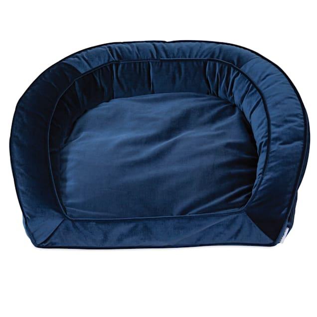 "La-Z-Boy Tucker Blue Velvet Sofa Dog Bed, 33"" L X 30"" W - Carousel image #1"