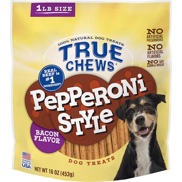 True Chews Pepperoni Style Bacon Flavor Dog Treats, 16 oz. - Carousel image #1