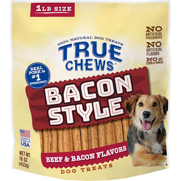 True Chews Bacon Style Beef & Bacon Flavors Dog Treats, 16 oz. - Carousel image #1