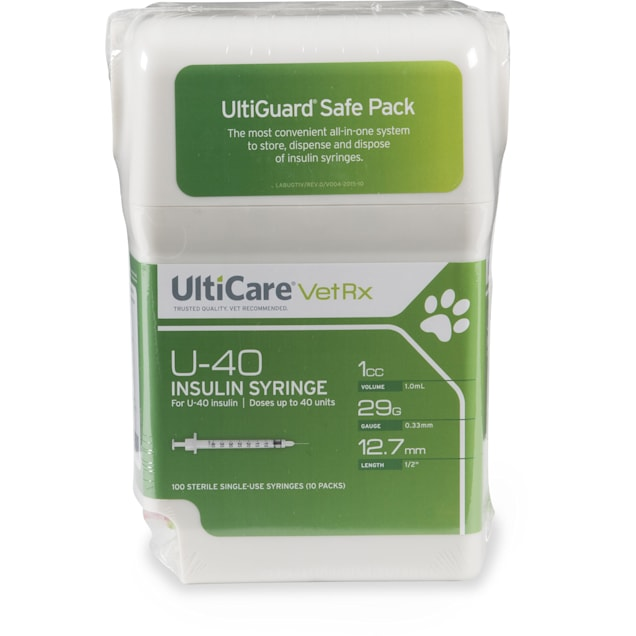 """Ulticare 29-Gauge 1/2"""" 1cc Syringes with Needles, 10 Count - Carousel image #1"""