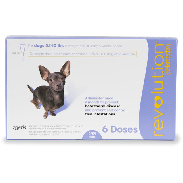 Revolution Topical Solution for Dogs 5.1-10 lbs, 6 Month Supply - Carousel image #1