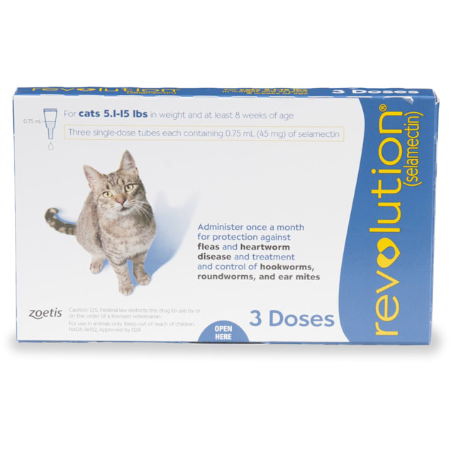 Revolution Topical Solution for Cats 5.1-15 lbs, 3 Month Supply - Carousel image #1