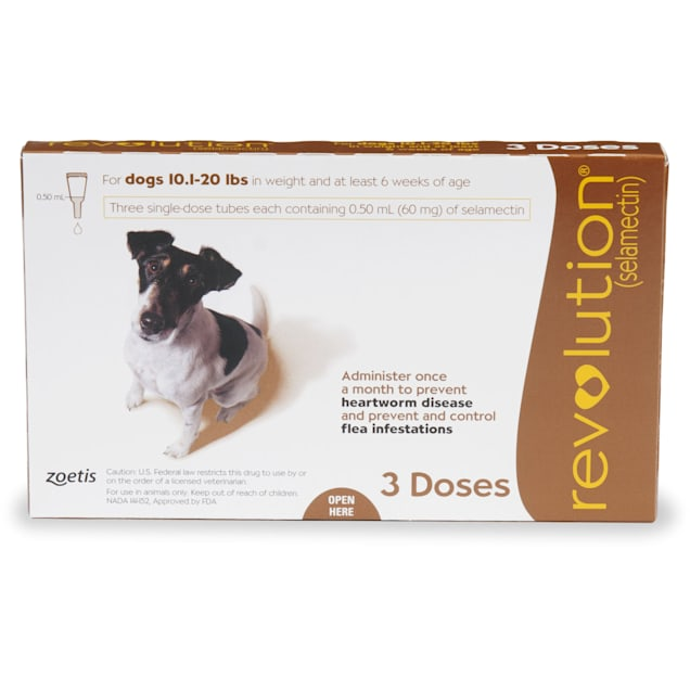 Revolution Topical Solution for Dogs 10.1-20 lbs, 3 Month Supply - Carousel image #1