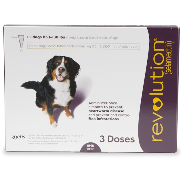 Revolution Topical Solution for Dogs 85-130 lbs, 3 Month Supply - Carousel image #1