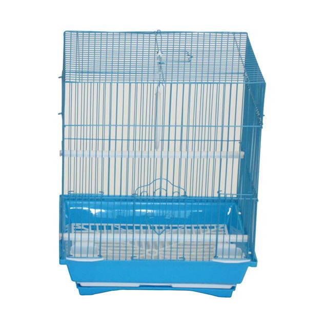 "YML Blue Flat Top Parakeet Cage, 13.3"" L X 10.8"" W X 16.5"" H - Carousel image #1"