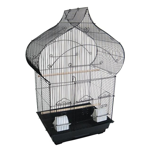 YML Black Taj Mahal Top Shape Bird Cage, Medium - Carousel image #1
