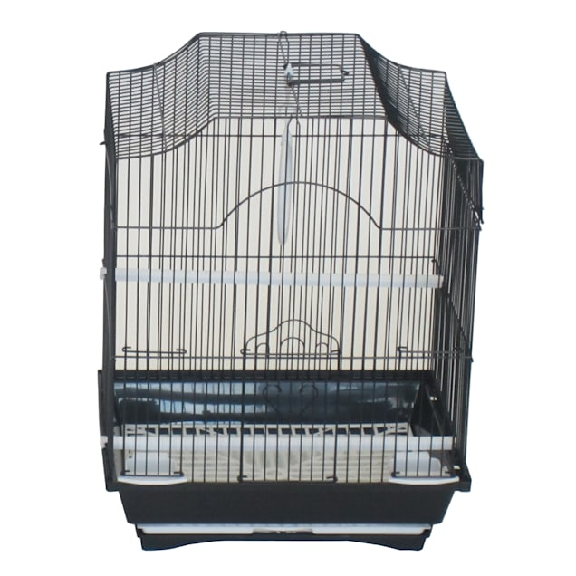 YML Black Cornerless Flat Top Bird Cage, Small - Carousel image #1