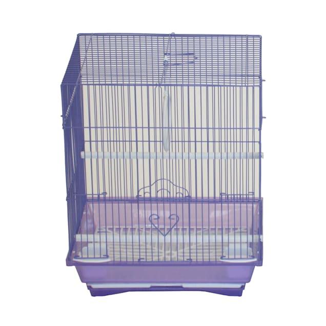 "YML Purple Flat Top Parakeet Cage, 13.3"" L X 10.8"" W X 16.5"" H - Carousel image #1"